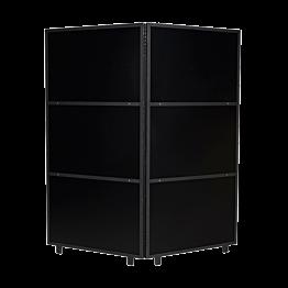 Paravent en aluminium noir 2 x 100 cm H 210 cm