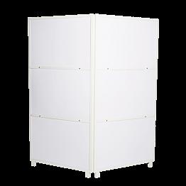 Paravent en aluminium blanc 2 x 100 cm H 210 cm