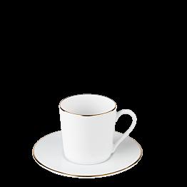Tasse et sous-tasse à café Plane Filet Or 12 cl