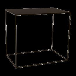 Table haute Quadra noire 120 x 80 x H 108 cm démontable