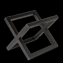 Verhoogje hout zwart 20 x 20 cm H 17,5 cm