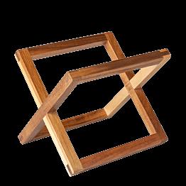 Verhoogje hout natuur 20 x 20 cm H 17,5 cm