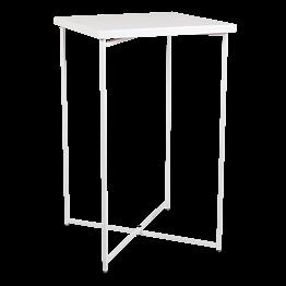 Gekruiste buffettafel wit wit blad Hoge tafel H 110 cm