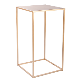 Table haute Quadra dorée démontable 60 x 60 cm H 108 cm