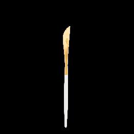Couteau à entremets Cutipol blanc et or
