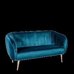 Canapé Juliette bleu vert P 78 x L 165 cm H 85 cm