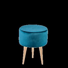 Pouf Juliette bleu vert Ø 35 cm H 44 cm