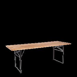 Wood-tafel rechthoekig 90 x 220 cm H 72 cm