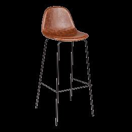 Chaise haute cuir H 78 cm
