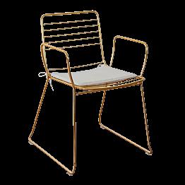 Fauteuil Filor avec assise écrue